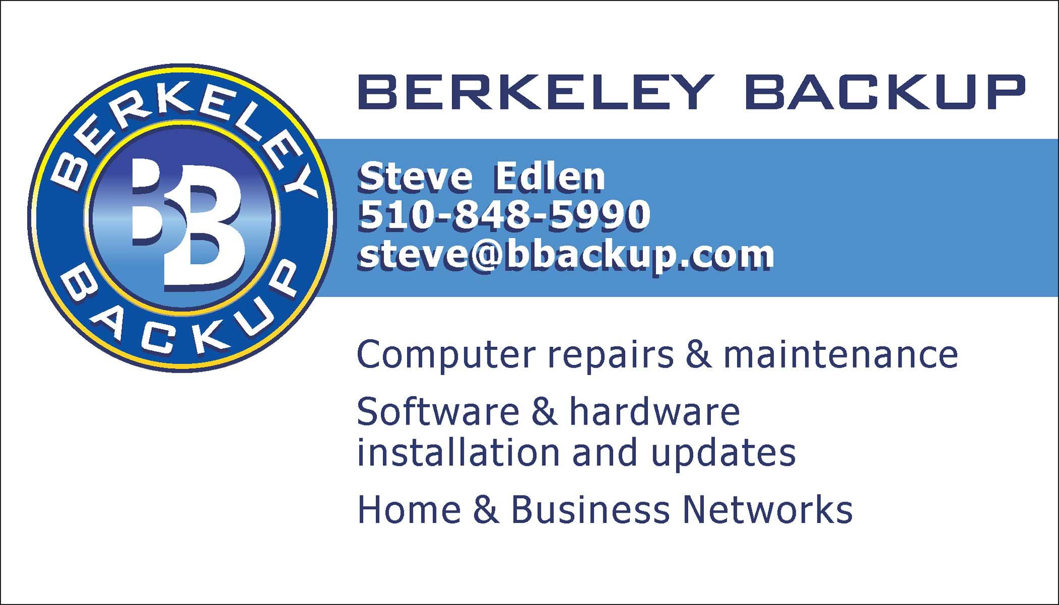 Berkeley backup logo business card alternative stuart nezin design view larger image berkeley backup business card reheart Choice Image